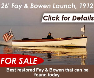 fay bowen classic wooden boat for sale