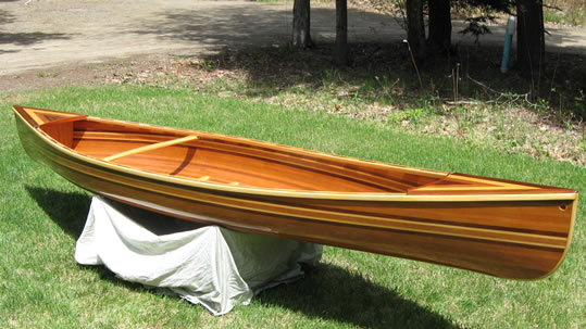 solo canoe - LadyBen Classic Wooden Boats for Sale