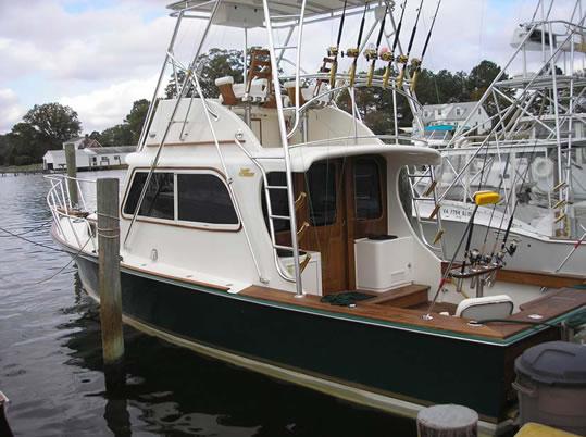Tiffany Sport Fish Flybridge Sedan Used Classic Wooden Boat For Sale In Va Beach