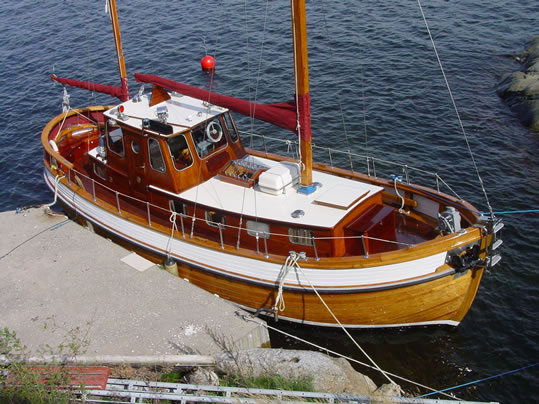 Ketch Ladyben Classic Wooden Boats For Sale