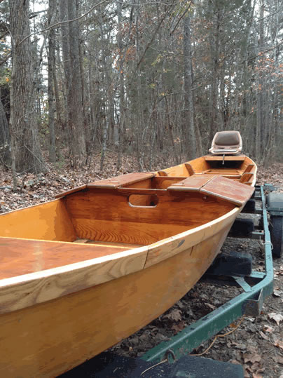 Flat Deck Trailer >> Ausable River Boat - LadyBen Classic Wooden Boats for Sale
