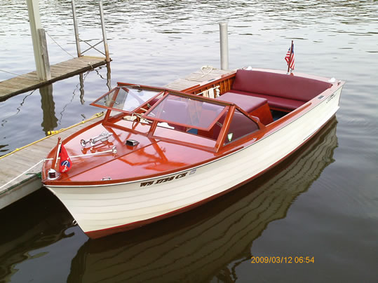 Chris craft ladyben classic wooden boats for sale for Skiff craft boats for sale