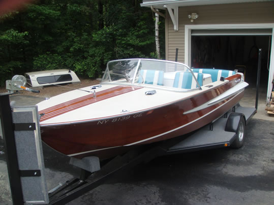 Drop Deck Trailer For Sale >> Chris Craft - LadyBen Classic Wooden Boats for Sale